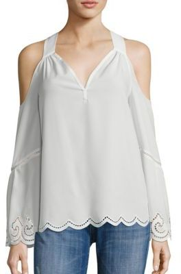 Ramy Brook Drew Cold Shoulder Top $345 thestylecure.com