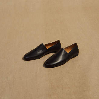 Sandro Grained leather slippers