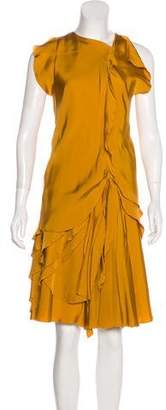 Bottega Veneta Draped Silk Dress