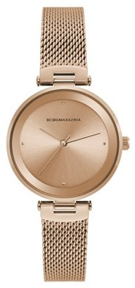 BCBGMAXAZRIA Women's Classic Analog Gold Tone Bracelet Watch