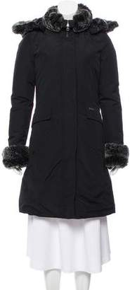 Woolrich Faux Fur-Trimmed Down Coat