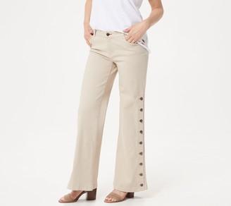 Peace Love World Regular Garment Dyed Side Button Jean