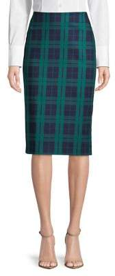 "Lord & Taylor Petite Plaid 27"" Pencil Skirt"
