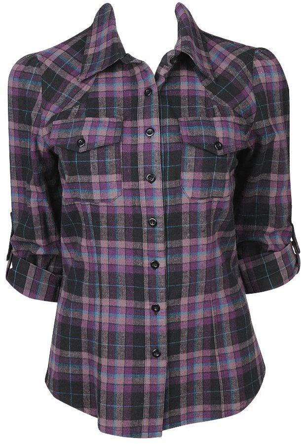 Ariana Plaid Woven Shirt