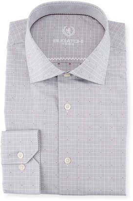 Bugatchi Grid & Dot Dress Shirt