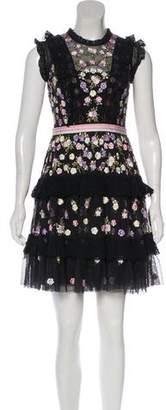 Needle & Thread Embroidered Mini Dress w/ Tags