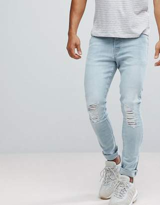 Hoxton Denim Super Skinny Jeans in Light Blue