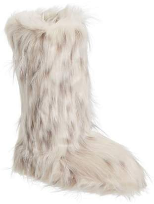 Pottery Barn Teen Snow Cat Faux-Fur Tall Booties, X-Large