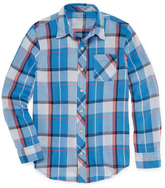 Arizona Long Sleeve Button-Front Shirt Boys 4-20