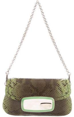 Prada Python Lock Shoulder Bag