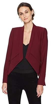 BCBGMAXAZRIA Women's Lloyd Woven Layered Jacket