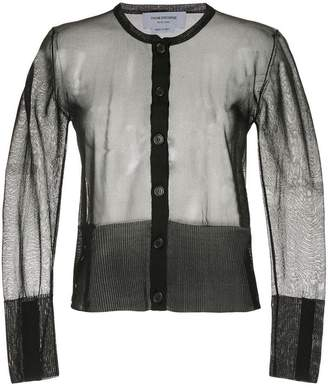 Thom Browne sheer classic silk cardigan