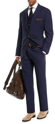 Brunello Cucinelli Men's Solid Wool-Blend Two-Piece Travel Suit