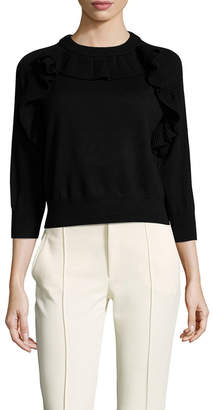 Paper London Tiger Wool Ruffle Trimmed Sweater