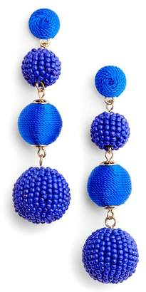 Tasha Mixed Bead & Thread Drop Earrings