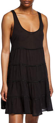 Kate Spade Tiered Scoop-Neck Coverup Dress