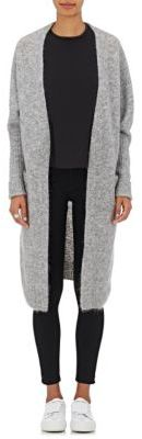 Acne Studios Women's Raya Open-Front Cardigan-GREY $430 thestylecure.com