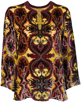 Etro Top opal printed blouse