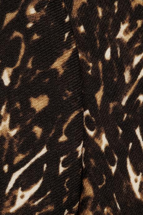 Burberry Leopard-print wool-jersey top