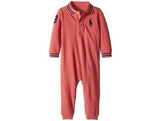 Ralph Lauren Baby Cotton Mesh Polo Coverall (Infant)