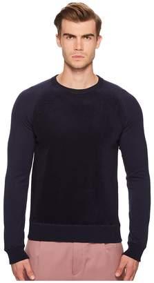 Todd Snyder Texture Block Crew Sweatshirt Men's Clothing