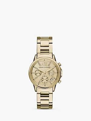 Armani Exchange Women's Crystal Chronograph Date Bracelet Strap Watch