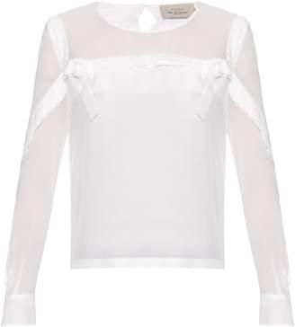 Preen by Thornton Bregazzi Mar silk-georgette blouse