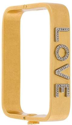 Tory Burch Love square bangle