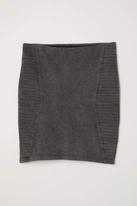 H&M Short Jersey Skirt - Gray