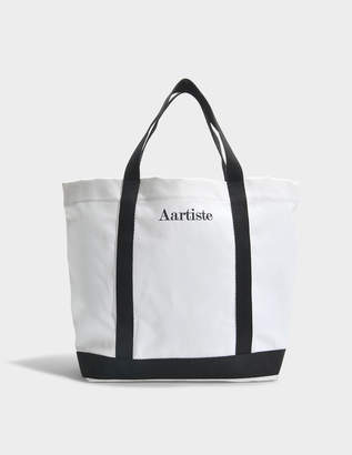 Vanessa Bruno AAA Artiste Medium + Tote Bag in White Cotton