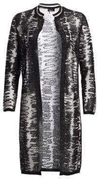 Akris Scribble Jacquard Knit Cardigan