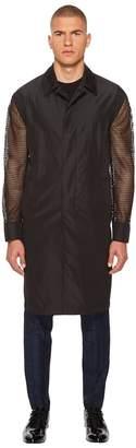 Versace Mesh Sleeve Trench Coat Men's Coat