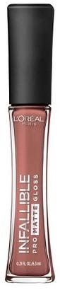 L'Oréal® Paris Infallible Pro-Matte Gloss $7.99 thestylecure.com