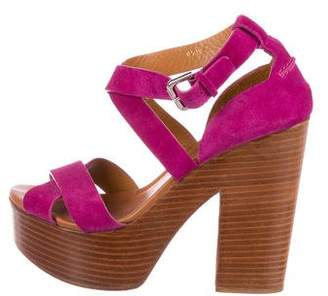 Ralph Lauren Suede Ankle Strap Sandals