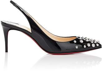 Christian Louboutin Women's Drama Sling Patent Leather Pumps