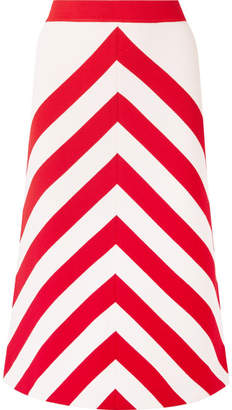 Gucci Striped Wool-blend Midi Skirt - Red