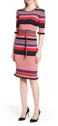 BOSS Fantonia Stripe Knit Sheath Dress