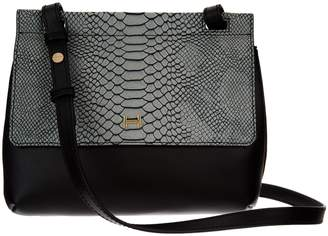 5018d96041f9 ... Halston H By H by Snake Embossed   Smooth Leather Crossbody Bag