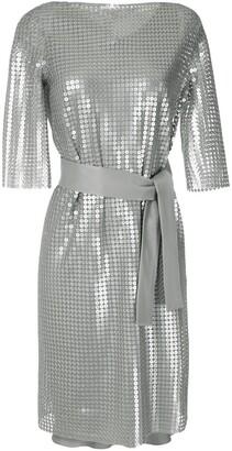 Gloria Coelho sequins belted dress