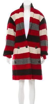 Etoile Isabel Marant Striped Wool-Blend Coat