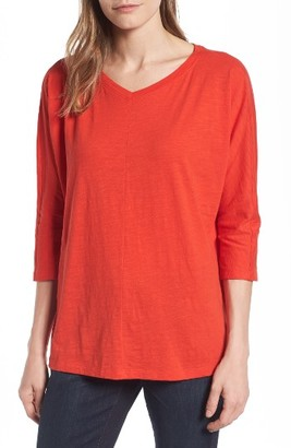 Women's Eileen Fisher Organic Cotton Knit Boxy Top $78 thestylecure.com