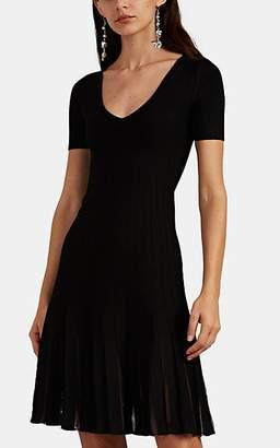 Zac Posen Women's Tulle-Inset Pleated Fit & Flare Minidress - Black