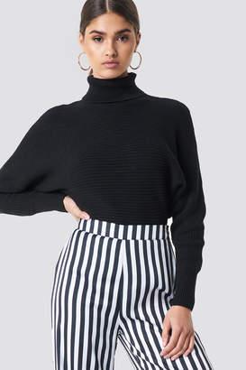 NA-KD Na Kd Folded Knitted Sweater Beige