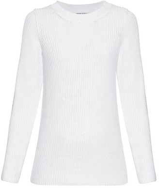 Sonia Rykiel Chunky Knit Back Overlay Sweater - Womens - White