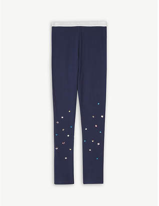 Billieblush Billie Blush Glitter waist cotton-blend leggings 4-12 years