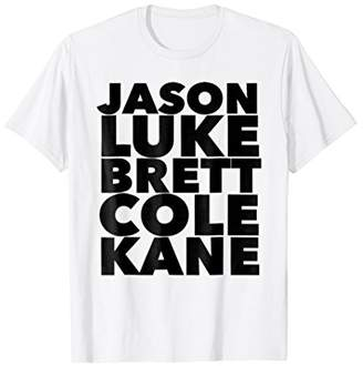 Jason Luke Cole Kane Brett Country Music Tee Shirt