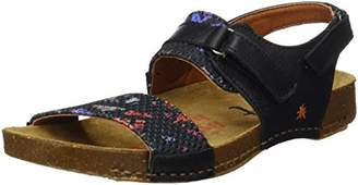 Art 1002 Memphis I Breathe, Women's Ankle Strap Sandals, Black (Black Chaos), 5 UK ()