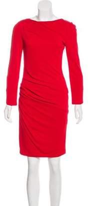 Giorgio Armani Long Sleeve Ruched Dress