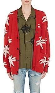 Amiri Men's Palm Trees Cashmere Oversizes Cardigan - Red