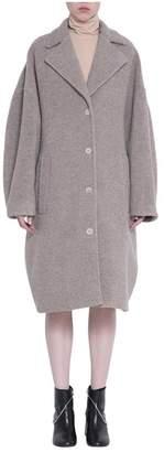 MM6 MAISON MARGIELA Beige Wool Blend Coat